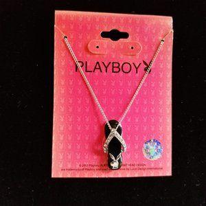 Playboy Bunny Flip Flop Black Necklace 16 in 2005